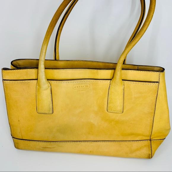 Coach Handbags - Coach Buckskin Madeline Tan Leather Tote
